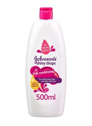 Johnson's Baby 500ml Shiny Drops Kids Conditioner Spray for Enhanced Shine and Silky Soft Hair