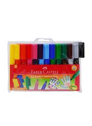 Faber-Castell 12-Piece Jumbo Connector Color Marker Pen Set, Multicolor