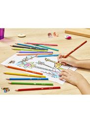 Bic 12-Piece Kid's Tricolors Coloring Pencils Set, Multicolor