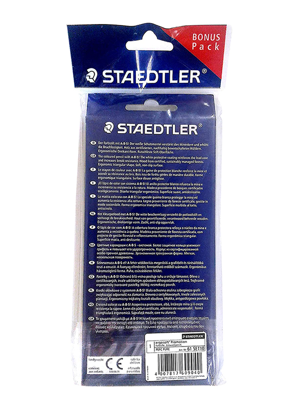 Staedtler 12-Piece Ergosoft 157 C12 Color Pencils Set, Multicolor
