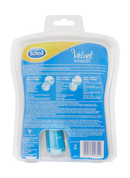 Scholl Velvet Smooth Electronic Nail Care System, Blue
