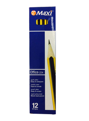 Maxi 12-Piece Office 224 HB Pencil Set, Black/Yellow