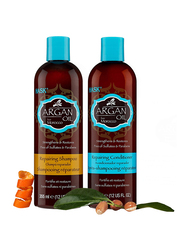 Hask Argan Oil Repairing Shampoo and Conditioner Set for Dry, Damaged or Color Treated Hair, 2 Pieces
