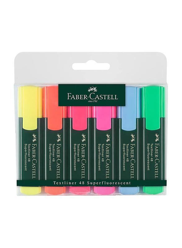 Faber-Castell 6-Piece Textliner 1548 Highlighter Set, Multicolor