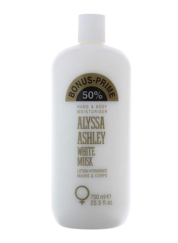 Alyssa Ashley Bonus-Prime White Musk Hand & Body Moisturizer, 750ml