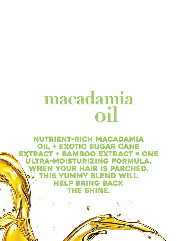 Ogx Hydrating Macadamia Oil Shampoo for All Hair Types, 13oz