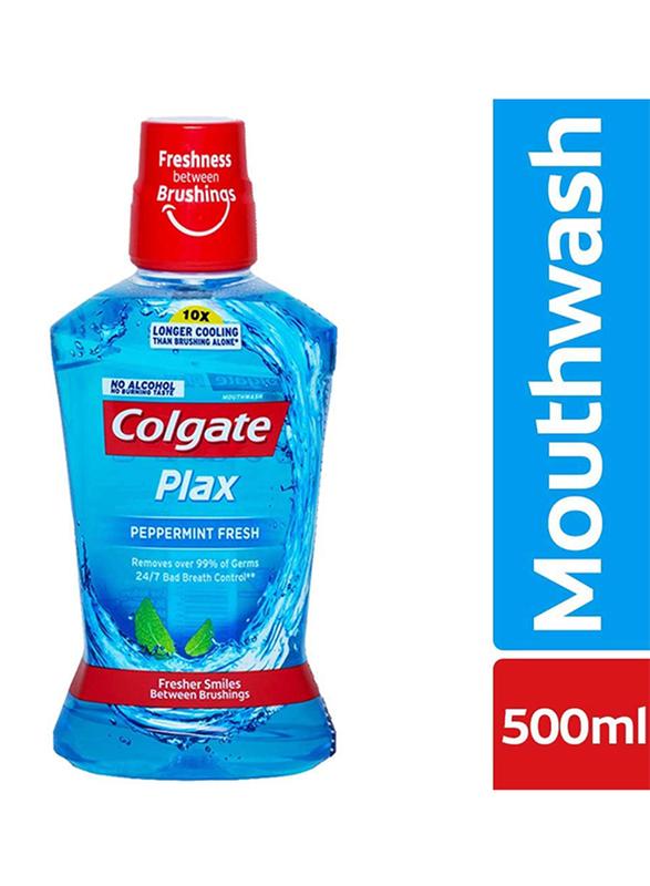 Colgate Plax Peppermint Fresh Mouthwash, 500ml, 3 Pieces