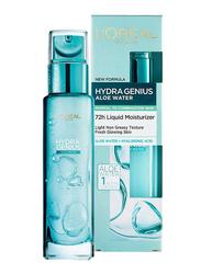 L'Oreal Paris Hydra Genius Aloe Liquid Moisturiser for Normal to Combination Skin, 70ml