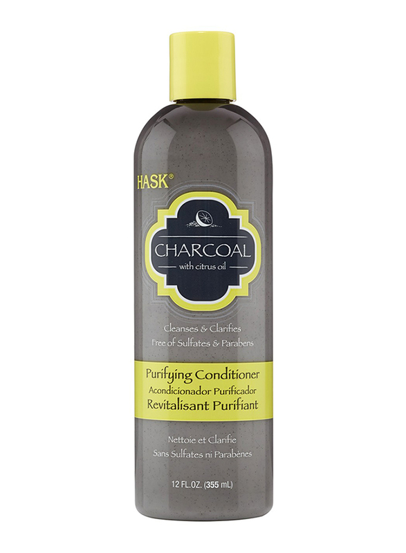 Hask Charcoal with Citrus Oil Purifying Conditioner for All Hair Types, 355ml