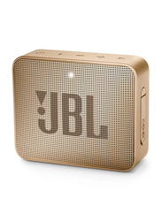 JBL Go 2 IPX7 Water Resistant Portable Bluetooth Speaker, Pearl Champagne