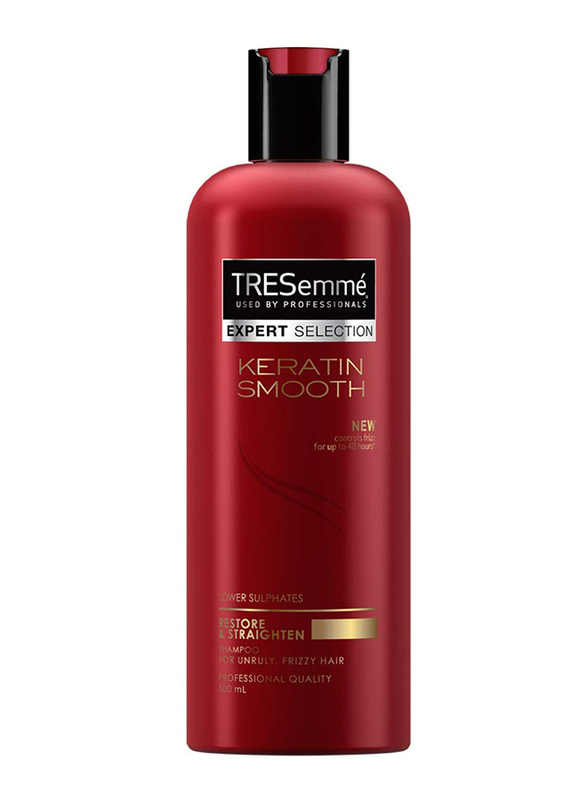 Tresemme Keratin Smooth Hair Shampoo for Unruly and Frizzy Hair, 500ml