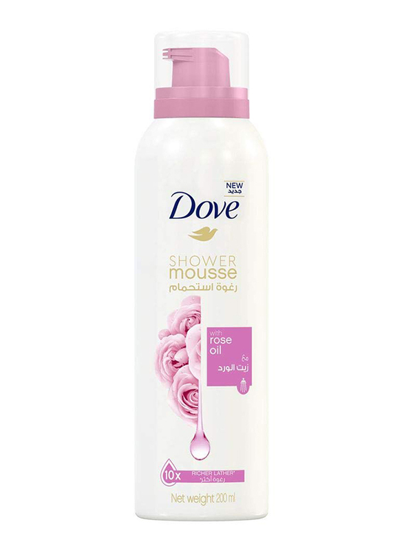 Dove Shower Mousse with Rose Oil, 200ml