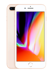 Apple iPhone 8 Plus Gold 256GB, With Facetime, 2GB RAM, 4G LTE, Single SIM Smartphone