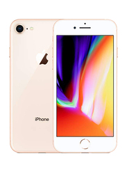 Apple iPhone 8 Gold 64GB, With Facetime, 2GB RAM, 4G LTE, Single SIM Smartphone