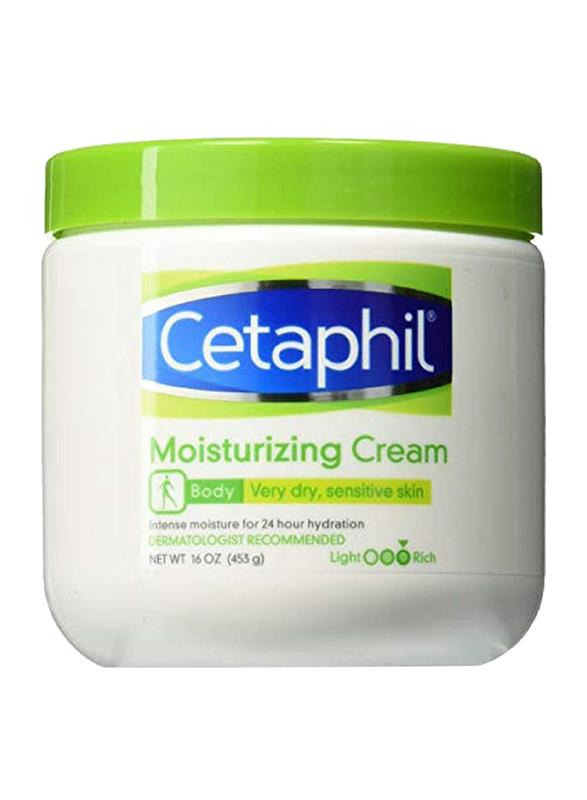 Cetaphil Moisturizing Cream for Dry/Sensitive Skin, Fragrance Free, 473ml