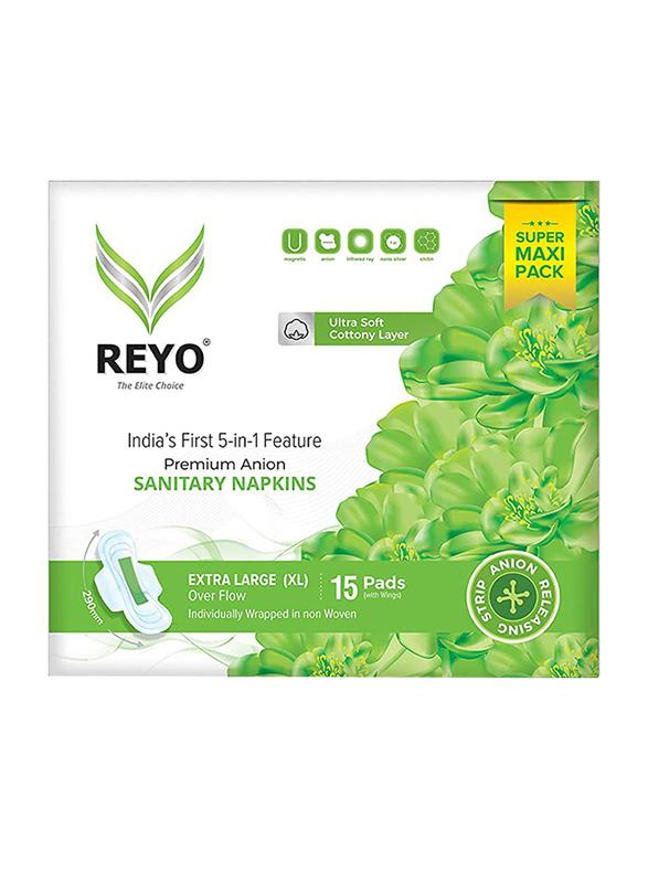 Reyo Over Flow 290mm Sanitary Napkins, Extra Large, 15 Pads