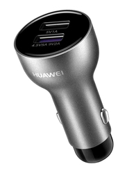 Huawei Super Car Charger, 5A Dual Port with USB Type C Cable, Black