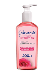 Johnson's Fresh Hydration Micellar Cleansing Jelly with Rose Water Face Cleanser for Normal Skin, 200ml
