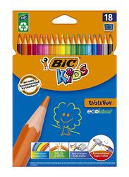 Bic 18-Piece Kid's Evolution Coloring Pencils Set, Multicolor