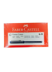 Faber-Castell 12-Piece Vision Conus Rollerball Pen Set, Blue