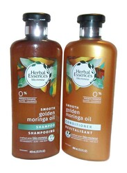 Herbal Essences Smooth Golden Moringa Oil Shampoo and Conditioner Set for All Hair Types, 2 Pieces