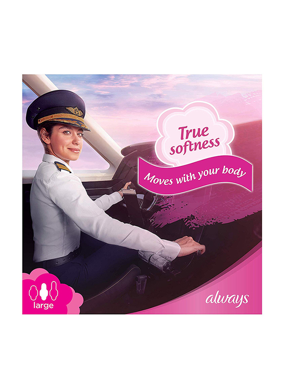 Always Maxi Thick Cotton Soft Sanitary Pads, Large, 50 Pads