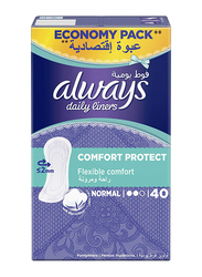 Always Daily Liners Comfort Protect, Normal, 40 Pieces