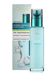 L'Oreal Paris Hydra Genius Hyaluronic Acid + Aloe Liquid Moisturiser for Normal to Combination Skin, 70ml