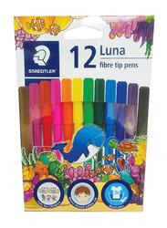 Staedtler 12-Piece Luna Fiber-Tip Sketch Pen Set, Multicolor