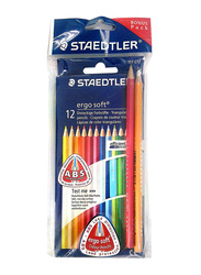 Staedtler 12-Piece Ergosoft 157 C12 Color Pencils Set, Multicolor