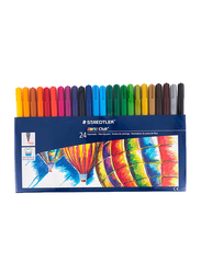 Staedtler 24-Piece Noris Club Double Ended Fiber-Tip Sketch Pen Set, Multicolor