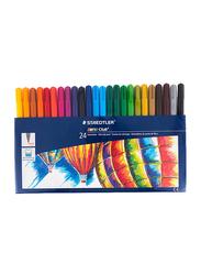 Staedtler 24-Piece Noris Club Double Ended Fiber-Tip Sketch Pen Set, Multicolor