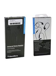 BlackBerry Universal Stereo 3.5mm Jack In-Ear Headphones with Mic, Black