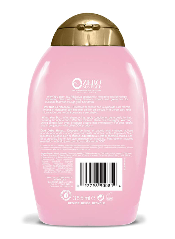 Ogx Cherry Blossom Heavenly Hydration Conditioner for All Hair Types, 385ml