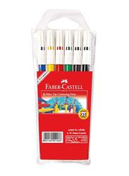 Faber-Castell 6-Piece Fiber Tip Color Sketch Pen Set, Multicolor