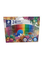 Staedtler 24-Piece Luna Fiber-Tip Sketch Pen Set, Multicolor