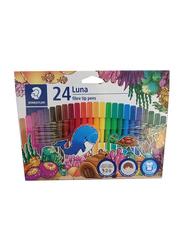 Staedtler 24-Piece Luna Fiber-Tip Sketch Pen Set, Multicolor