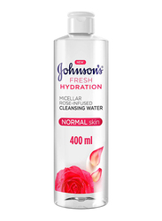 Johnson's Fresh Hydration Micellar Rose-Infused Cleansing Water, 400ml