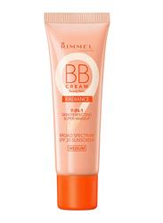 Rimmel London BB Cream Radiance, 1oz, Medium, Beige