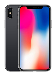Apple iPhone X Space Gray 256GB, With Facetime, 3GB RAM, 4G LTE, Single SIM Smartphone