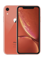 Apple iPhone XR Coral 64GB, With Facetime, 3GB RAM, 4G LTE, Dual SIM Smartphone