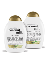 Ogx Nourishing + Coconut Milk Shampoo and Conditioner Set for All Hair Types, 2 Pieces