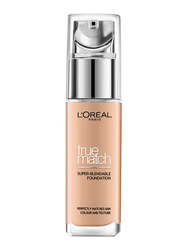 L'Oreal Paris True Match Liquid Face Foundation, 30ml, Honey 6N, Beige