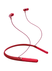 JBL LIVE200BT Wireless Neckband Headphones with Mic, Red