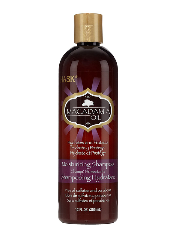 Hask Macadamia Oil Moisturizing Shampoo for Dry Hair, 355ml