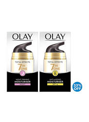Olay Total Effects 7 in 1 Beauty Box Day and Night Firming Moisturiser Set, 2 Pieces