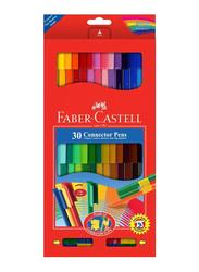 Faber-Castell 30-Piece Connector Color Marker Pen Set, Multicolor