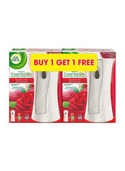 Airwick 2-Pieces Rose Air Freshener Freshmatic Auto Spray Kit, 250ml, Red