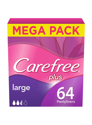 Carefree Panty Liners, Large, 64 Pieces