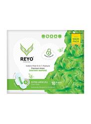 Reyo Over Flow 290mm Sanitary Napkins, Extra Large, 10 Pads